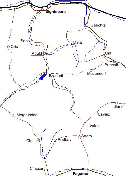 Apold Sighisara Fagaras in Apold (rumänisch auch Apoldu din Sighişoara, deutsch: Trappold, ung. Apoldya)